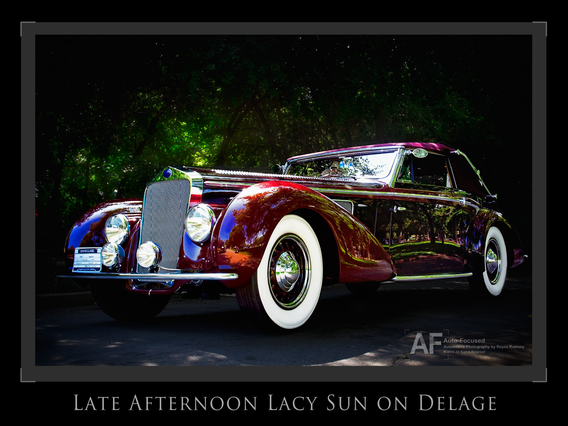 Photograph Late Afternoon Lacy Park Sun on Delage by Royce Rumsey on 500px