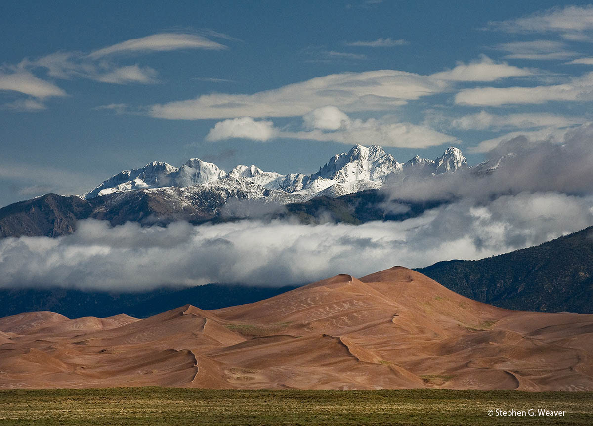 Photograph Crestone Peaks and Sand Dunes,Colorado by Stephen Weaver on 500px