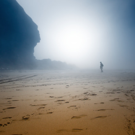 The misty beach