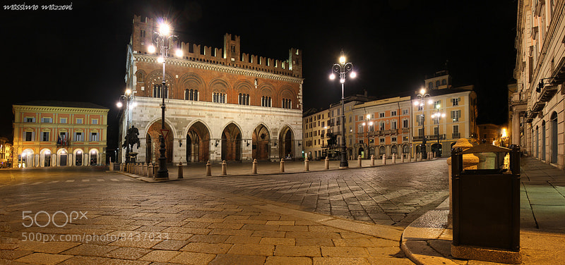 Photograph PIACENZA - night view on the horses square by massimo mazzoni on 500px
