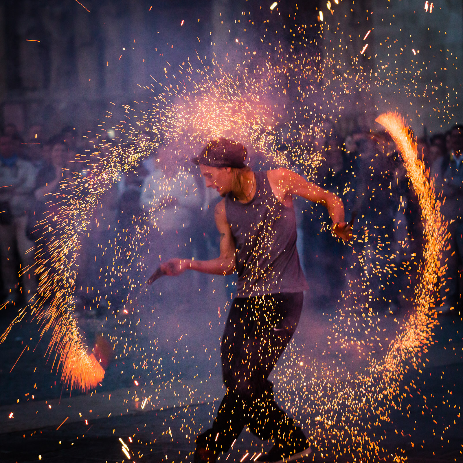 Photograph Dance with fire by Marc Besancenot on 500px