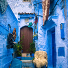 Постер, плакат: January Blues in Chefchaouen