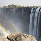 Постер, плакат: Victoria Falls between Zimbabwe and Zambia