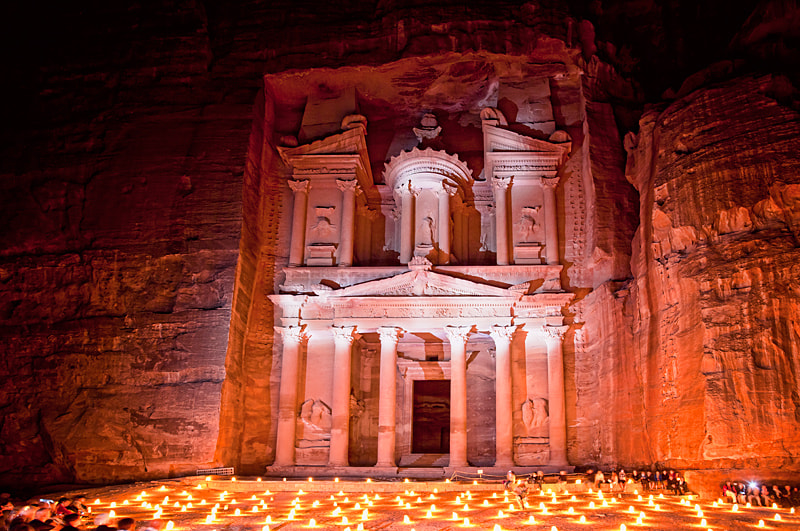 Photograph Petra by night by Sonia Blanco on 500px