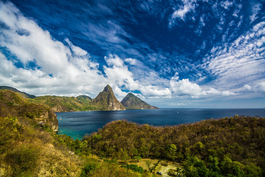 Photograph Saint Lucia's Pitons by Julio Patino on 500px