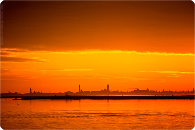 Photograph Sunset in Venice. by Nessa  G. on 500px
