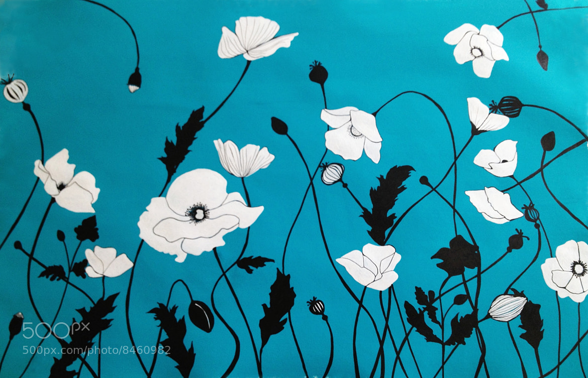 Photograph Turquoise Deco Poppies by Emily Fialho on 500px