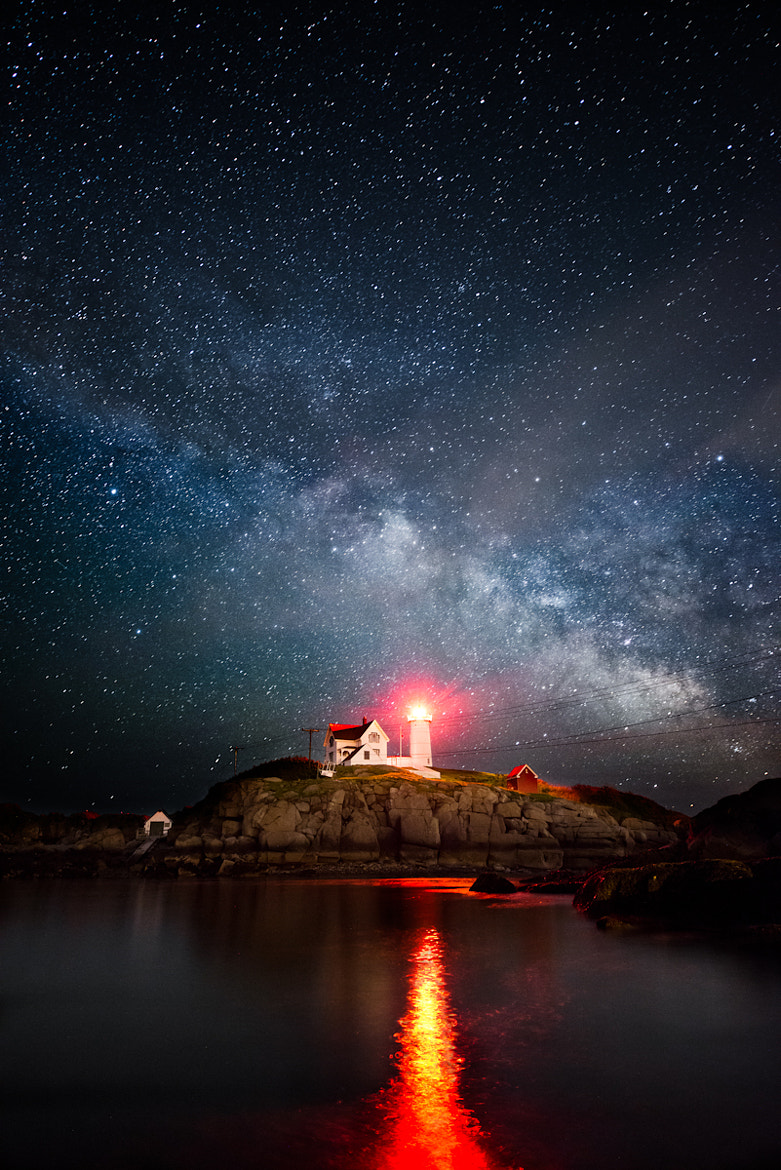 Photograph Milky Way over the Nubble by Moe Chen on 500px