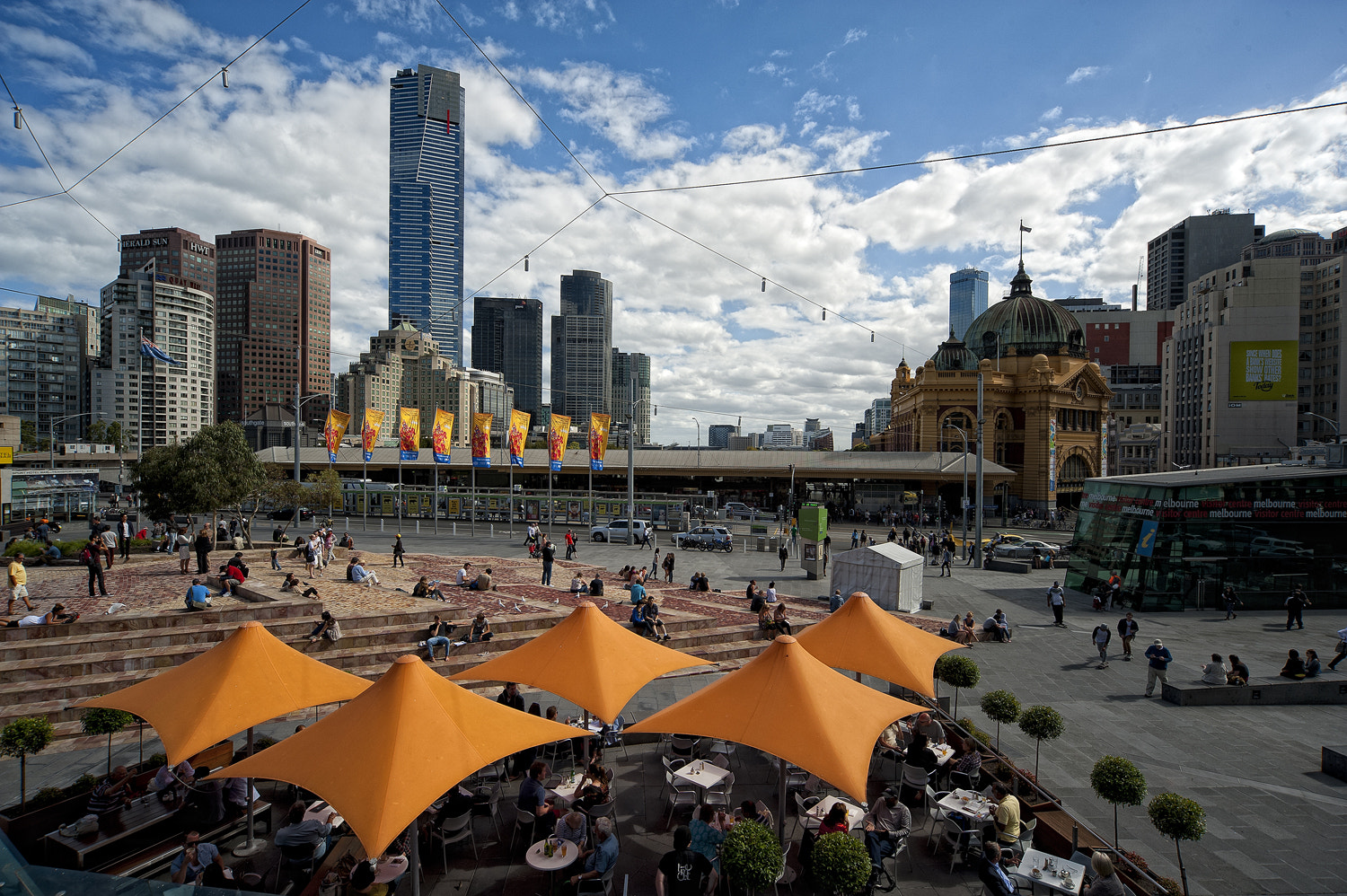Photograph Melbourne from Federation Square by Mark  on 500px