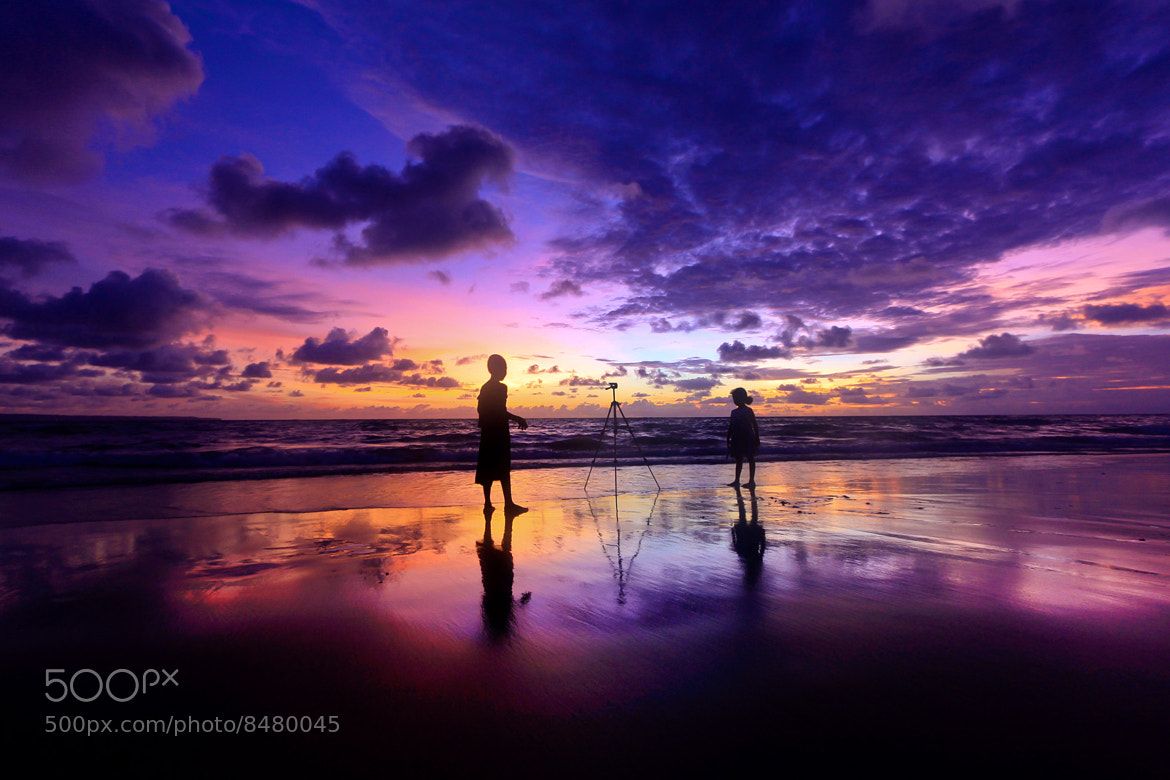 Photograph Blue Sunset by Helminadia Ranford on 500px