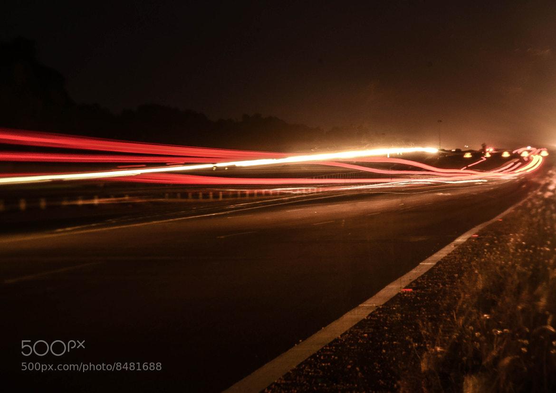 Photograph Line of lights by Kumaran Shanmugam on 500px