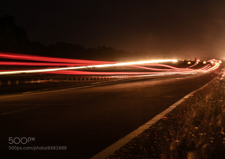 Photograph Line of lights by Kumaran Shanmugam on 500px