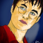Постер, плакат: Harry Potter Daniel Radcliffe portrait