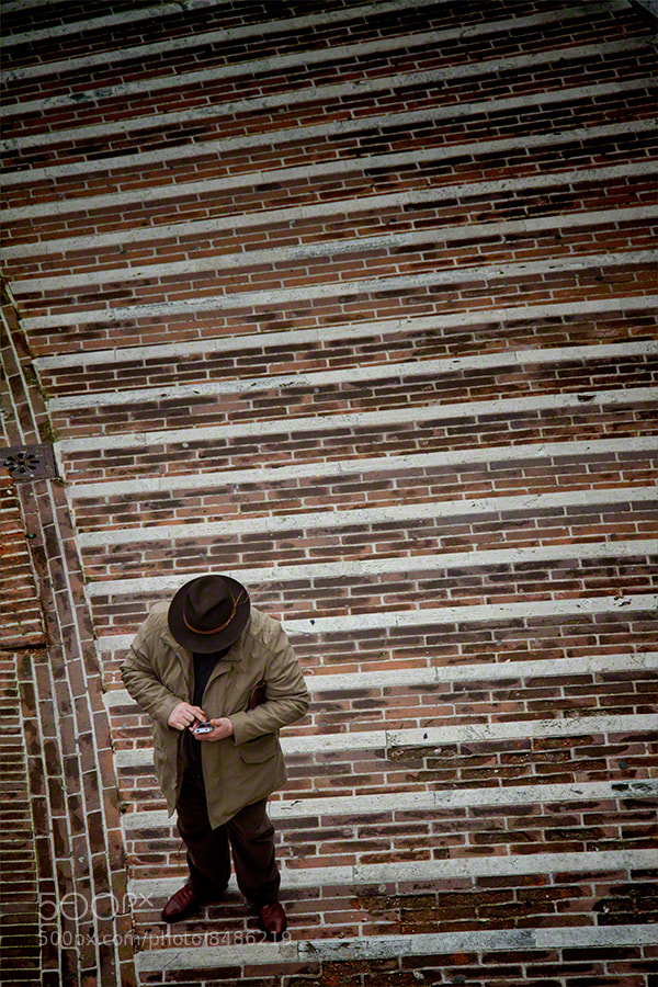 Photograph Man and Phone, Perugia by Andrew Barrow LRPS on 500px