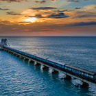 Постер, плакат: PAMBAN BRIDGE