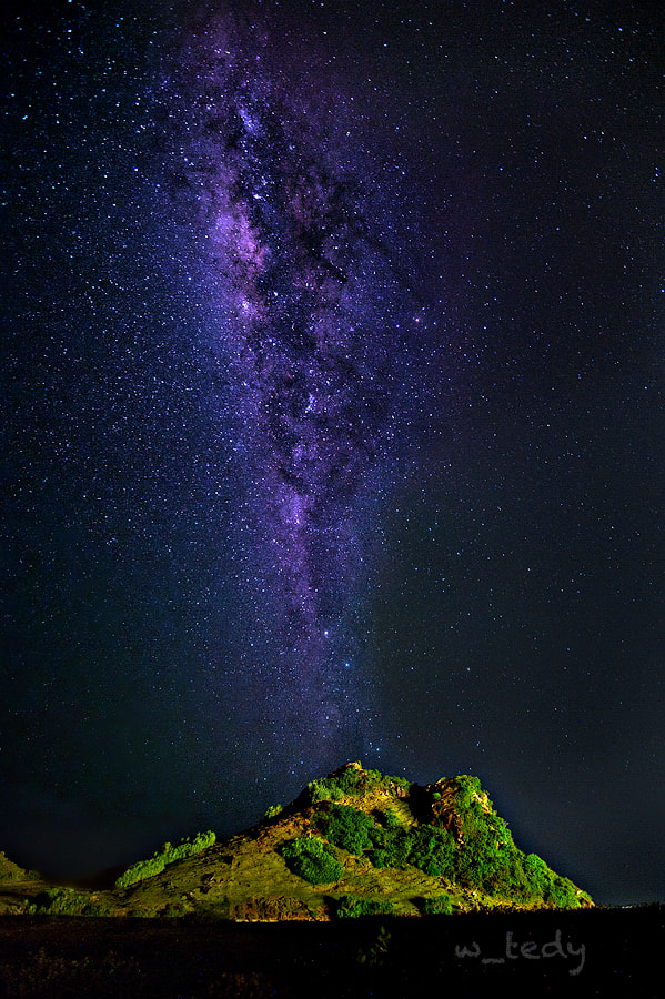 Photograph The milky way vulcano by Tedy Wikarsa on 500px