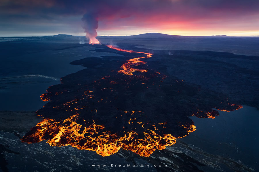 Photograph Volcanic Sunset by Erez Marom on 500px