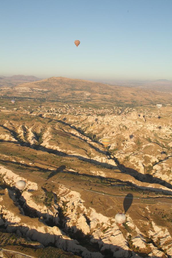 balloon over cappadocia