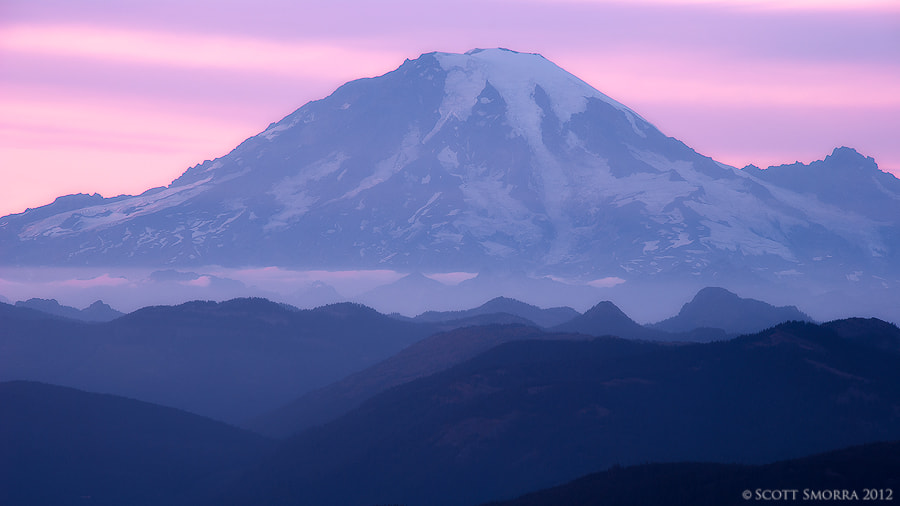 Photograph Rainier Twilight by Scott  Smorra on 500px