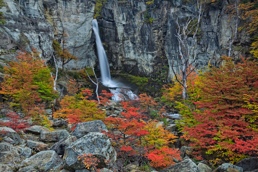 Photograph El Chalten Waterfall by Helminadia Ranford on 500px