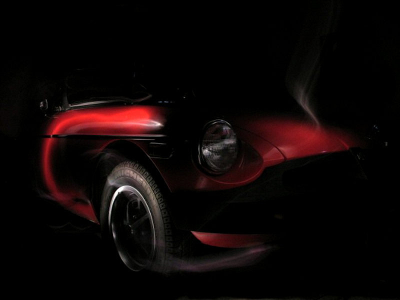 Photograph MGB Light Painting by Juliet Newton on 500px