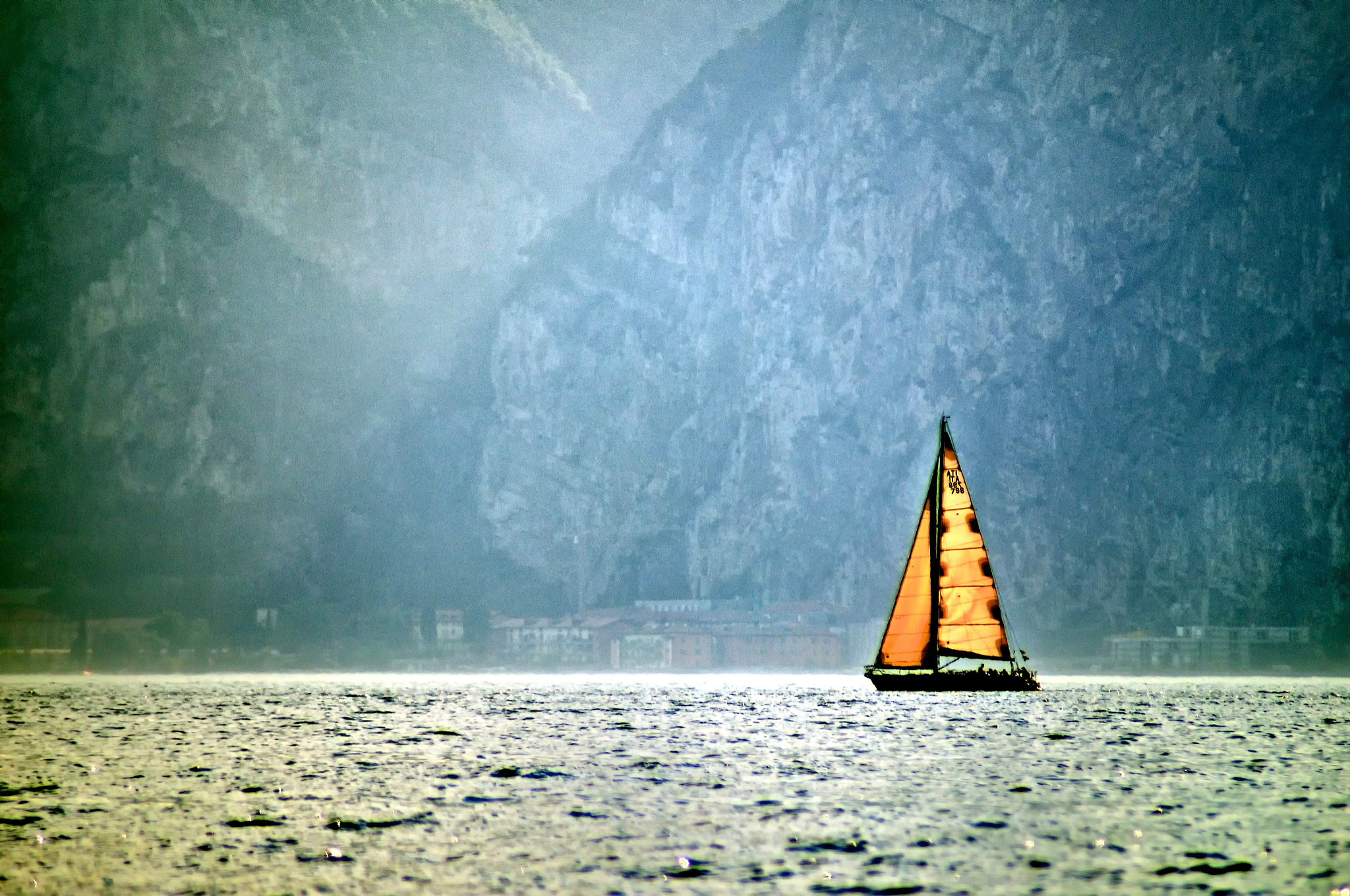 Photograph lonely sail by Jerzy Kott on 500px