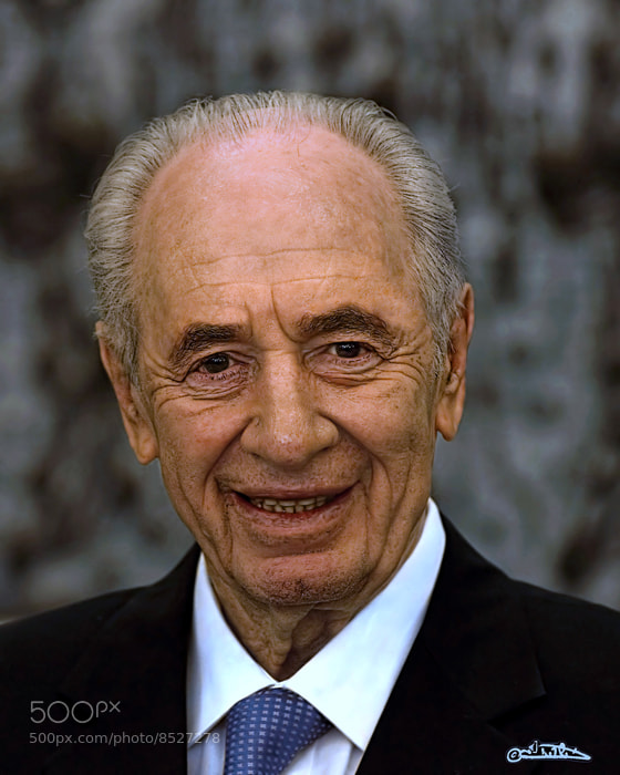 Photograph Shimon Peres the ninth President of the State of Israel by Israel Weiss on 500px
