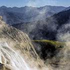 Постер, плакат: Early Morning at Mammoth Hot Springs
