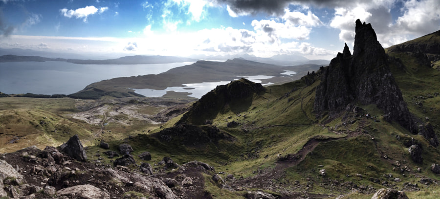 Panoramic view from the Old Man of Storr, Skye by Richard Flint on 500px.com
