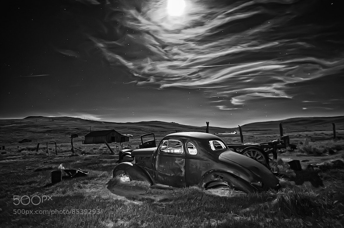 Photograph Old Studebaker under the moonlight by Daniel Schwabe on 500px