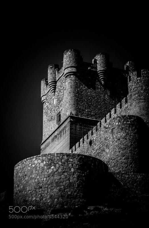 Villena Castle B&W