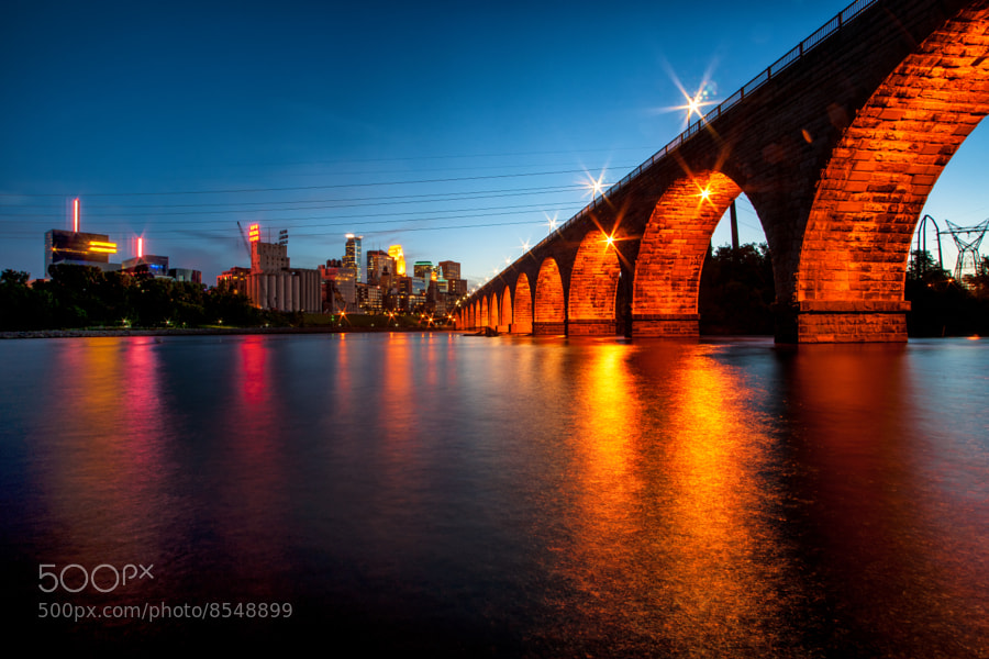 Taken at the Stone Arch Bridge in Minneapolis, MN.