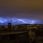 Постер, плакат: Thunderstorm over barcelona