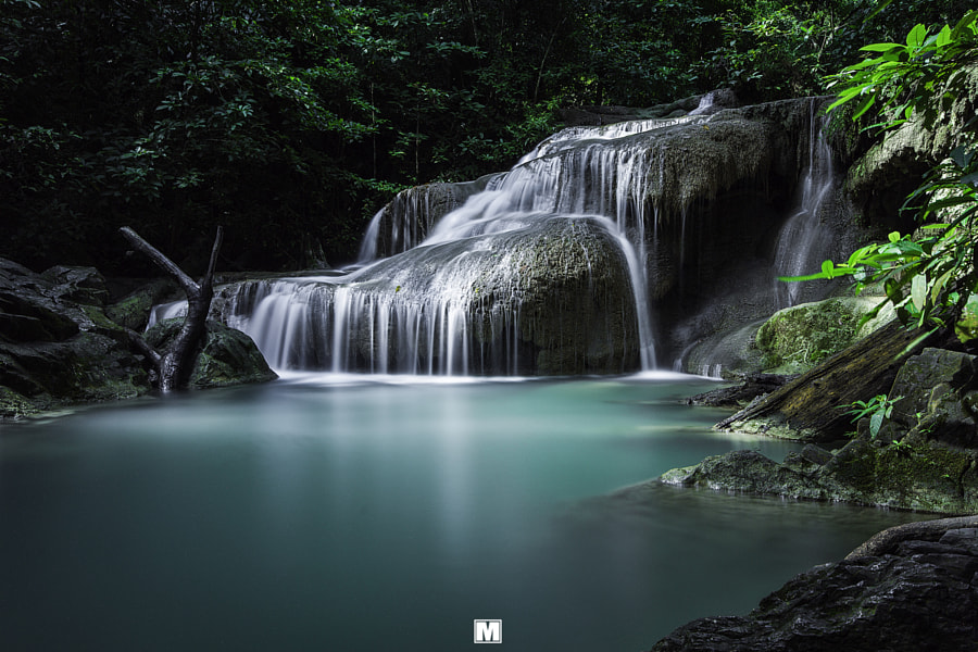 Photograph erawan waterfall by verapon dookgathoom on 500px