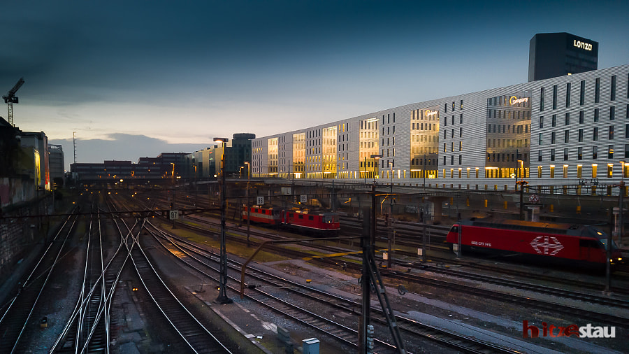 Photograph Trains Station at Sunset by hitzestau on 500px