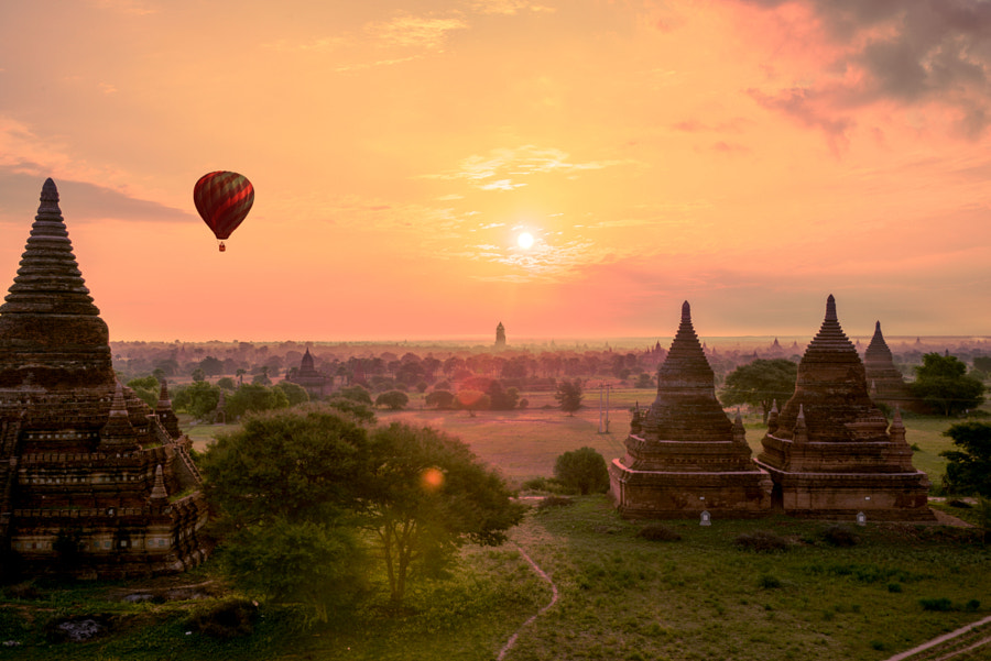 Photograph Bagan Sunrise by Harold Dickenson on 500px