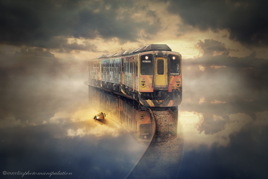 Photograph train 3:2 by evenliu photomanipulation on 500px
