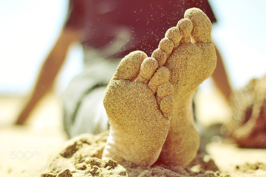 Photograph Beach sand feet foot by raquel lopez-chicheri on 500px