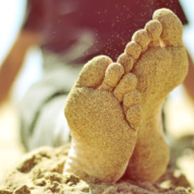 Beach sand feet foot by raquel lopez-chicheri (copito)) on 500px.com