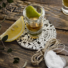 Постер, плакат: Tequila Shots with Lime and Salt
