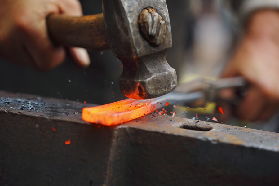 Forging hot iron by Lukas Pobuda on 500px.com