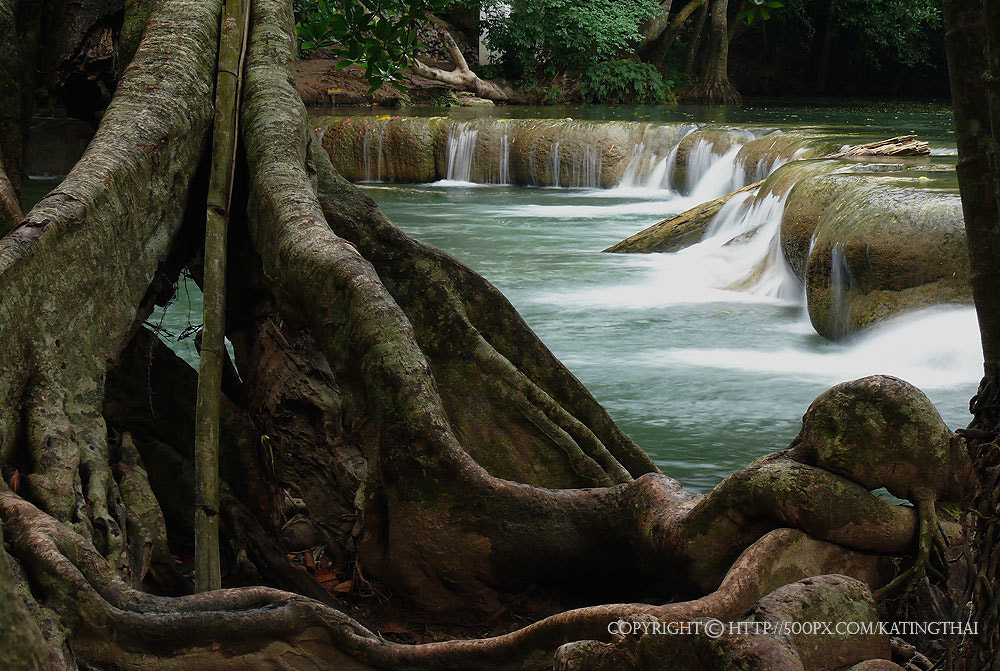 Photograph Jed-Sao-Noi (Little Seven-girl) Waterfall - THAILAND by Jumrus Leartcharoenyong on 500px