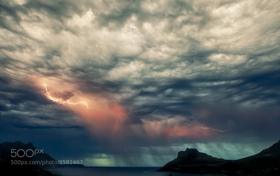 Photograph Lightning Strikes The Bay by Mario Moreno on 500px