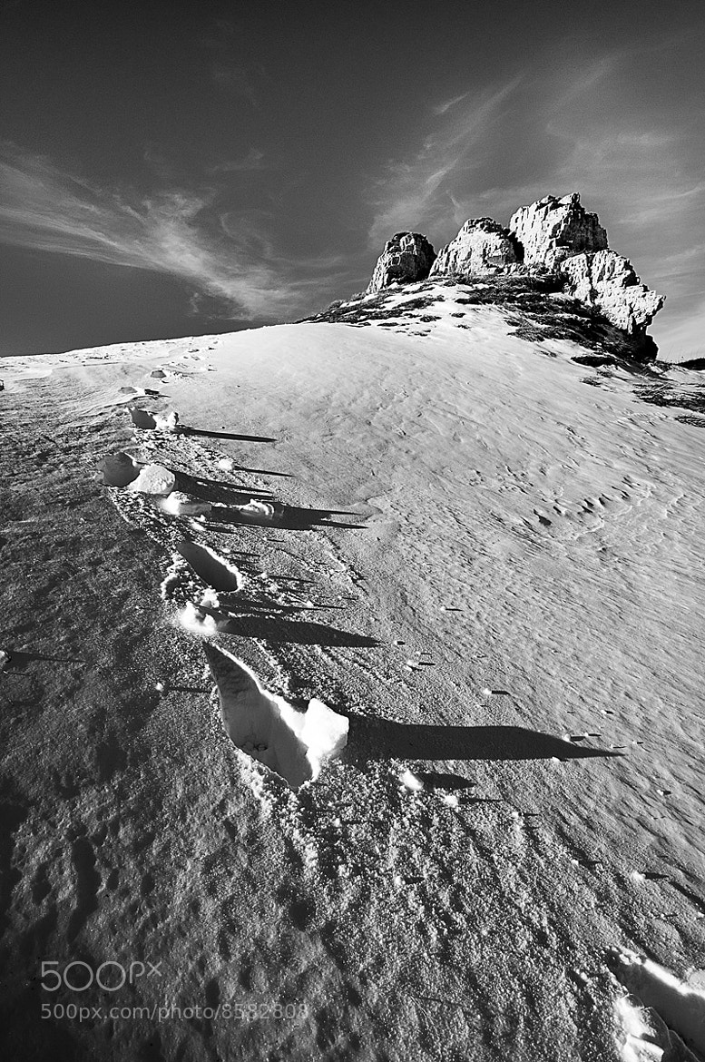 Photograph snow footsteps by Antonio Cutrona on 500px