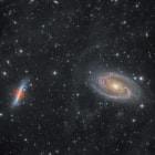 Постер, плакат: M81 and M82 galaxies seen through the IFN