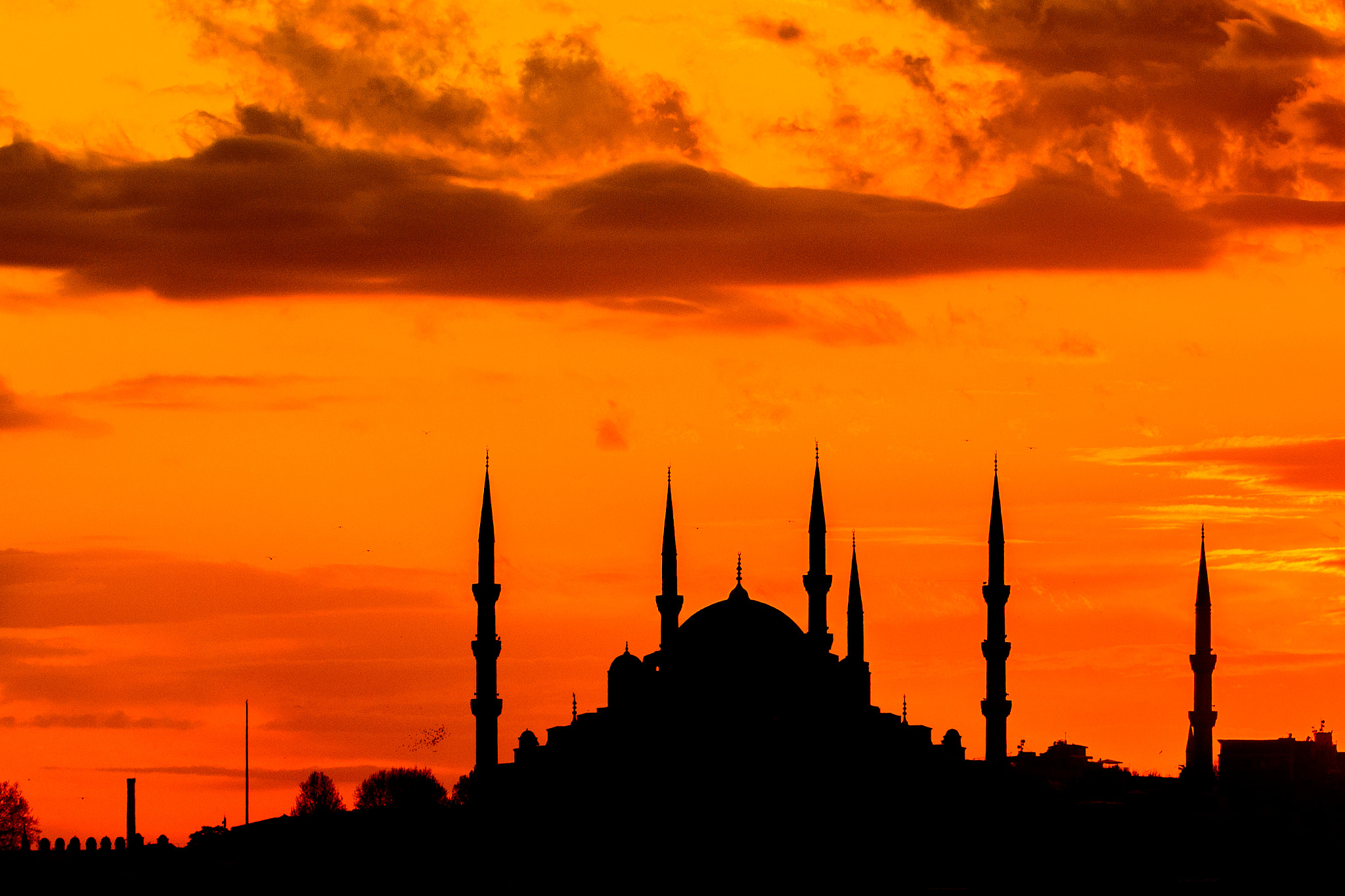 Photograph Sunset over The Blue Mosque by Asif Patel on 500px