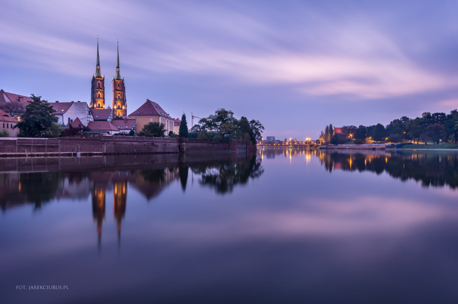 Peaceful morning in Wroclaw