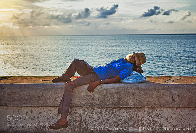 Photograph Napping on the Malecon by Dawn Angelia Lovell on 500px