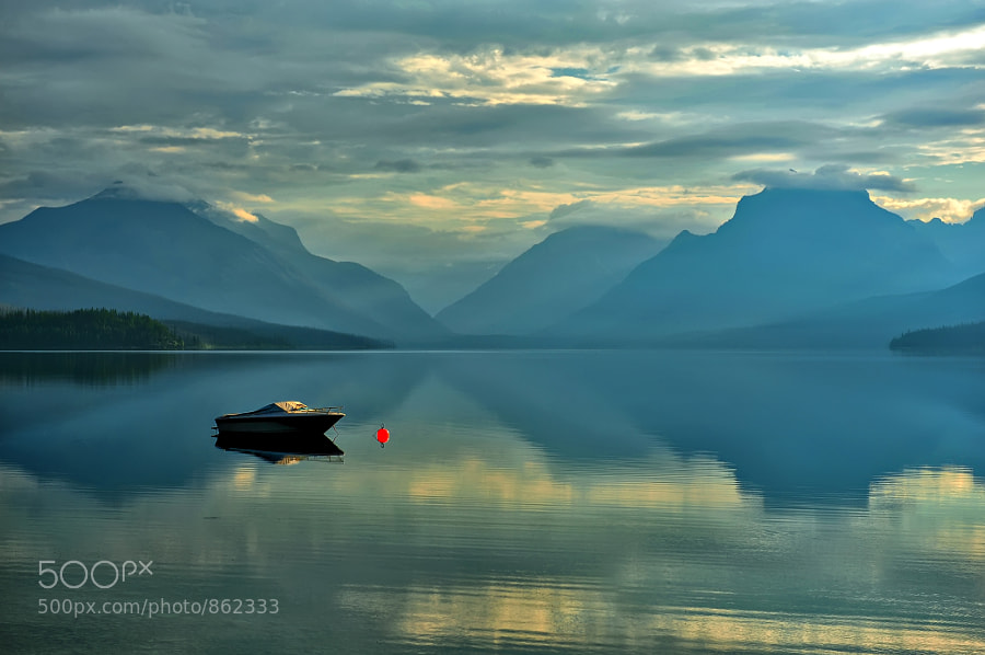 Red Buoy at Lake McDonald by Jeff Clow (jeffclow) on 500px.com