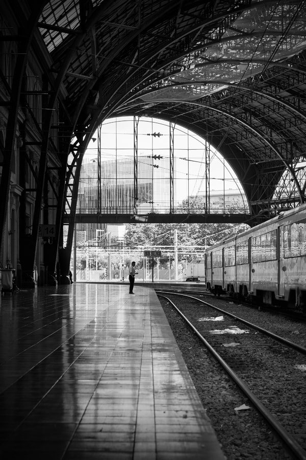 Photograph Waiting the last train by Juan Novakosky on 500px